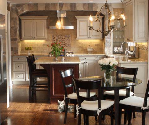 厨房美式风格效果图大全2017图片_土拨鼠完美唯美厨房美式风格装修设计效果图欣赏