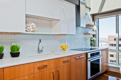 厨房现代风格效果图大全2017图片_土拨鼠时尚自然厨房现代风格装修设计效果图欣赏