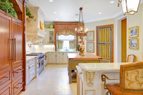 厨房地中海风格效果图大全2017图片_土拨鼠极致迷人厨房地中海风格装修设计效果图欣赏