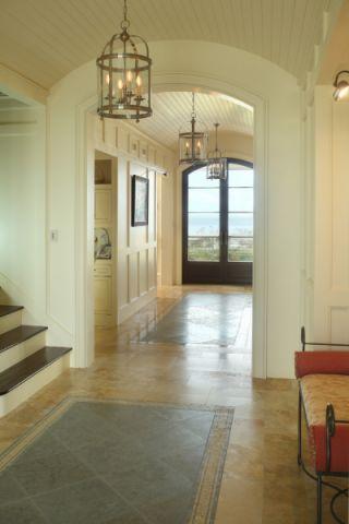 玄关背景墙美式风格装修设计图片