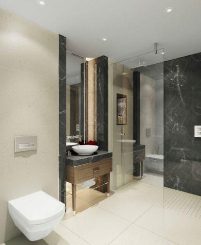 浴室现代风格装修设计图片