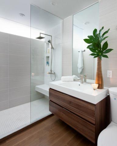 浴室现代风格效果图大全2017图片_土拨鼠唯美富丽浴室现代风格装修设计效果图欣赏