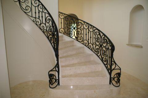 楼梯地中海风格装潢效果图