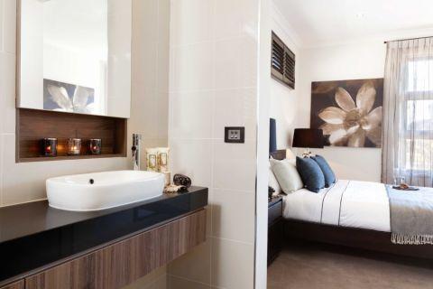 浴室现代风格效果图大全2017图片_土拨鼠优雅温馨浴室现代风格装修设计效果图欣赏