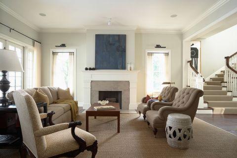客厅美式风格效果图大全2017图片_土拨鼠唯美创意客厅美式风格装修设计效果图欣赏