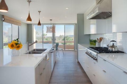 厨房现代风格效果图大全2017图片_土拨鼠潮流个性厨房现代风格装修设计效果图欣赏