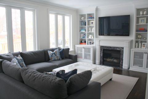 客厅现代风格装潢设计图片