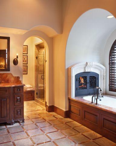 浴室地中海风格装潢设计图片