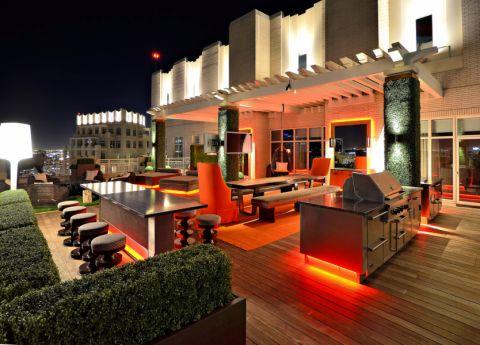 阳台现代风格装潢效果图