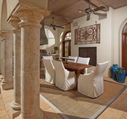 餐厅地中海风格装潢设计图片