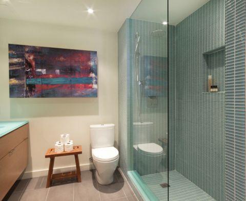 浴室现代风格效果图大全2017图片_土拨鼠时尚休闲浴室现代风格装修设计效果图欣赏