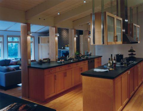 厨房现代风格效果图大全2017图片_土拨鼠现代雅致厨房现代风格装修设计效果图欣赏
