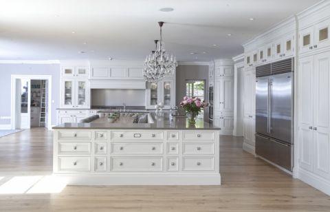 厨房美式风格效果图大全2017图片_土拨鼠精致写意厨房美式风格装修设计效果图欣赏