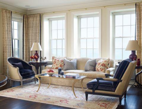 客厅美式风格效果图大全2017图片_土拨鼠唯美优雅客厅美式风格装修设计效果图欣赏