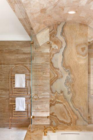 浴室推拉门美式风格装潢效果图
