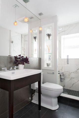 浴室现代风格效果图大全2017图片_土拨鼠美感温馨浴室现代风格装修设计效果图欣赏