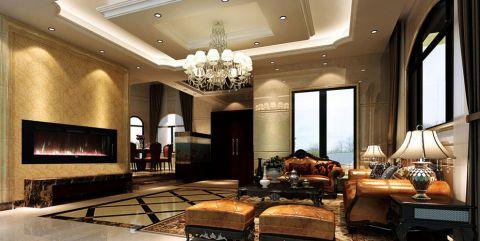 客厅混搭风格装潢效果图