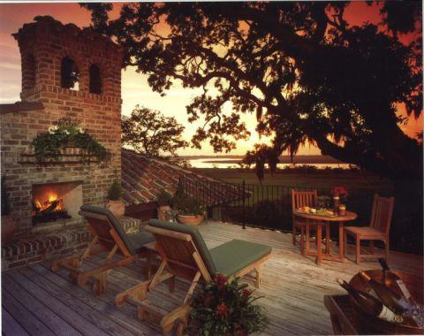 阳台地中海风格装潢设计图片