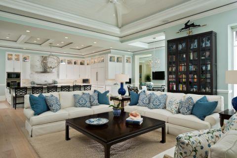 客厅美式风格效果图大全2017图片_土拨鼠完美优雅客厅美式风格装修设计效果图欣赏