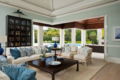 客厅美式风格装修设计图片