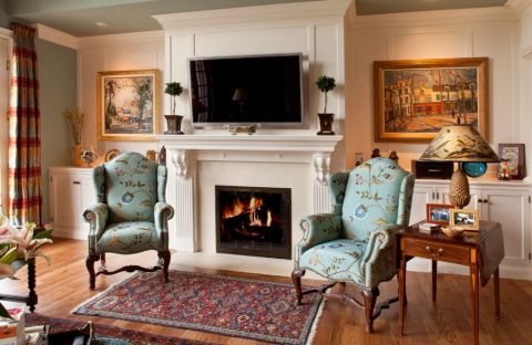 客厅美式风格效果图大全2017图片_土拨鼠浪漫雅致客厅美式风格装修设计效果图欣赏