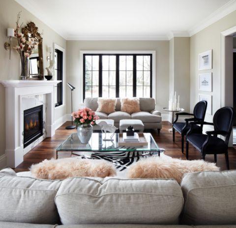 客厅美式风格效果图大全2017图片_土拨鼠潮流质朴客厅美式风格装修设计效果图欣赏