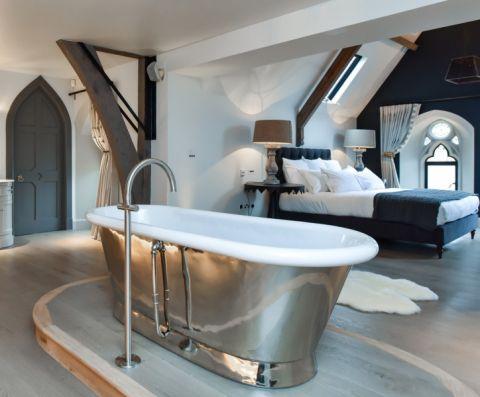 浴室混搭风格效果图大全2017图片_土拨鼠浪漫休闲浴室混搭风格装修设计效果图欣赏