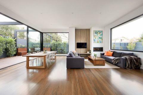 客厅现代风格效果图大全2017图片_土拨鼠大气自然客厅现代风格装修设计效果图欣赏