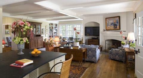 客厅美式风格效果图大全2017图片_土拨鼠极致唯美客厅美式风格装修设计效果图欣赏
