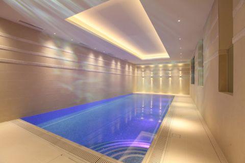 泳池现代风格效果图