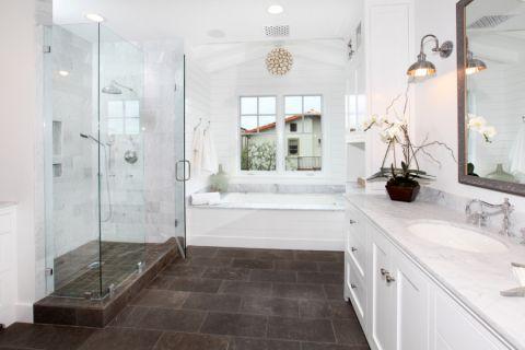 浴室美式风格效果图大全2017图片_土拨鼠现代个性浴室美式风格装修设计效果图欣赏