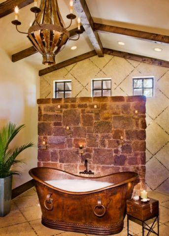 浴室混搭风格装潢设计图片