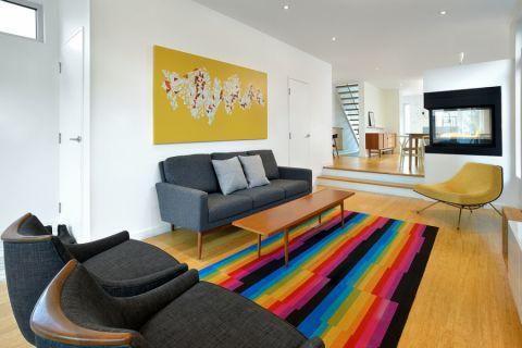 客厅现代风格效果图大全2017图片_土拨鼠温暖淡雅客厅现代风格装修设计效果图欣赏