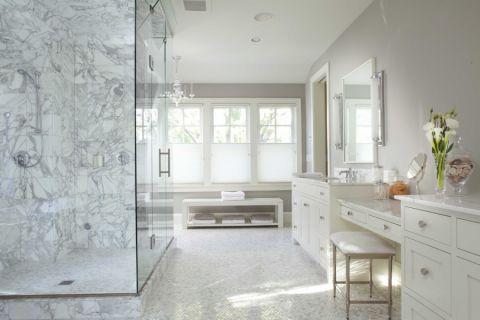 浴室美式风格效果图大全2017图片_土拨鼠温馨时尚浴室美式风格装修设计效果图欣赏
