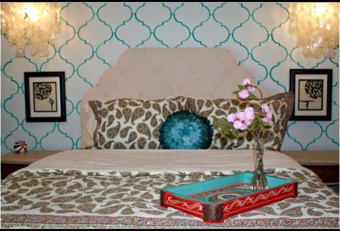儿童房背景墙混搭风格装饰设计图片
