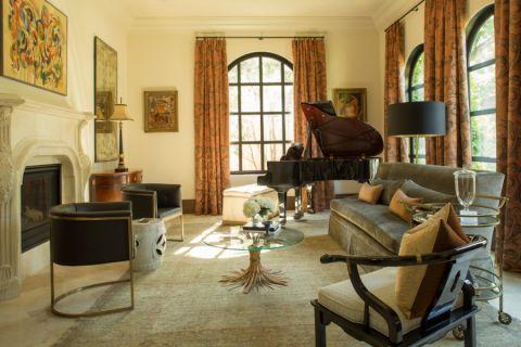 客厅地中海风格效果图大全2017图片_土拨鼠完美纯净客厅地中海风格装修设计效果图欣赏