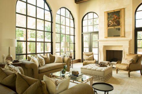 客厅飘窗地中海风格装修效果图
