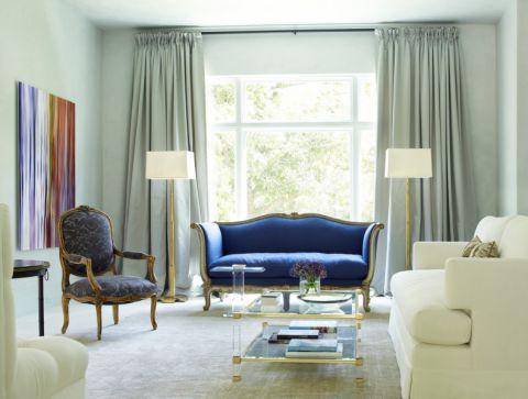 客厅美式风格效果图大全2017图片_土拨鼠简洁质朴客厅美式风格装修设计效果图欣赏