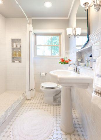 浴室美式风格效果图大全2017图片_土拨鼠简洁风雅浴室美式风格装修设计效果图欣赏