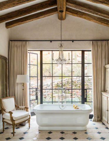 浴室地中海风格效果图大全2017图片_土拨鼠干净摩登浴室地中海风格装修设计效果图欣赏