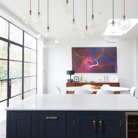 厨房现代风格效果图大全2017图片_土拨鼠简洁温馨厨房现代风格装修设计效果图欣赏