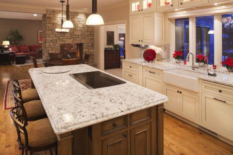 厨房美式风格效果图大全2017图片_土拨鼠浪漫唯美厨房美式风格装修设计效果图欣赏