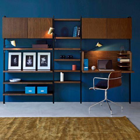 书房背景墙现代风格装潢图片