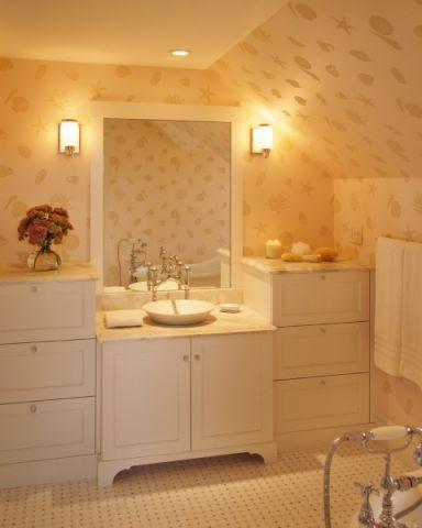 浴室灯具美式风格装修图片