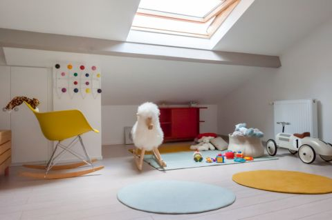 儿童房吊顶现代风格装潢效果图