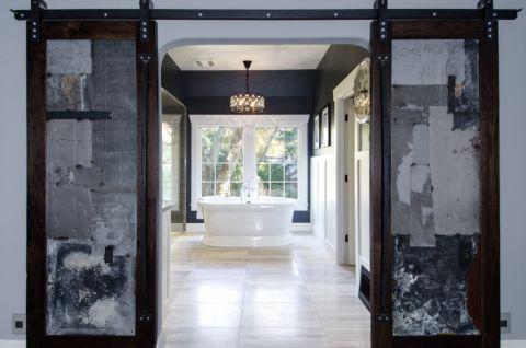浴室吊顶美式风格装潢效果图