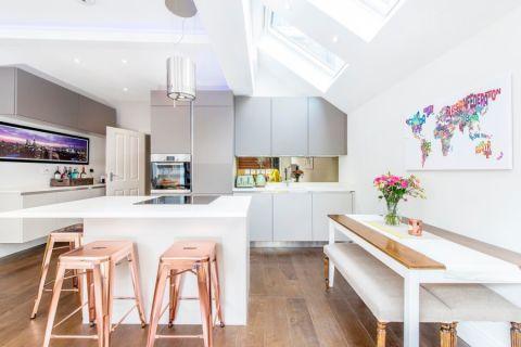 厨房餐桌现代风格装潢设计图片