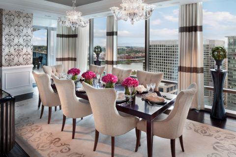 餐厅窗帘现代风格装饰图片