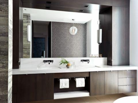 浴室洗漱台北欧风格装修效果图