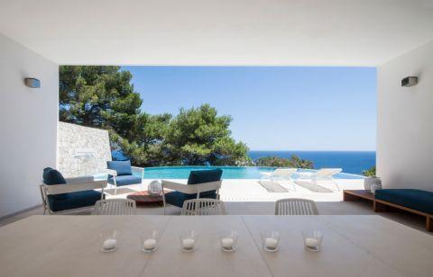 阳光房背景墙地中海风格效果图